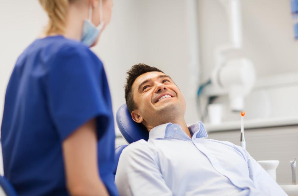 man at dentist | jensen beach sedation dentistry