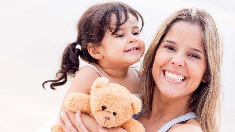 Mother with child | cavities in children
